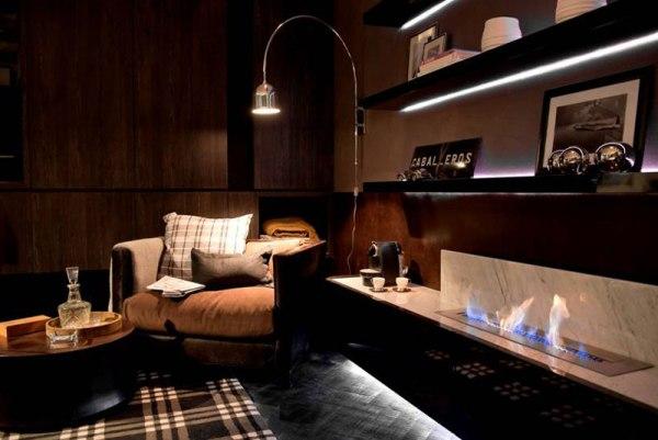 Cortinas De Baño Aki:de hierro y madera, con espacio para el trabajo Como fondo cortinas