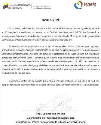 Invitación a la Red del CNIE