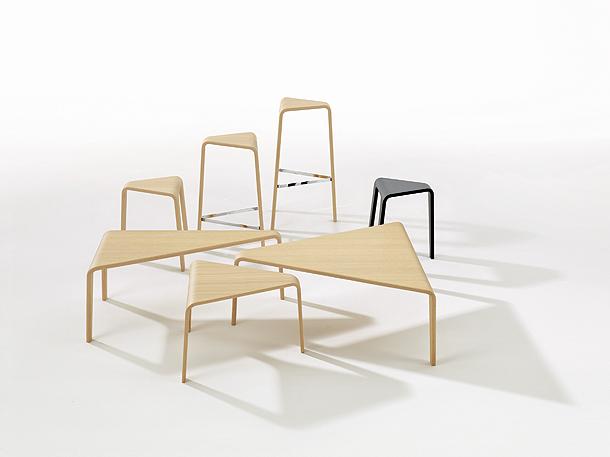 Milan Design Week 2013: Mesas y Taburetes Ply - Lievore Altherr Molina