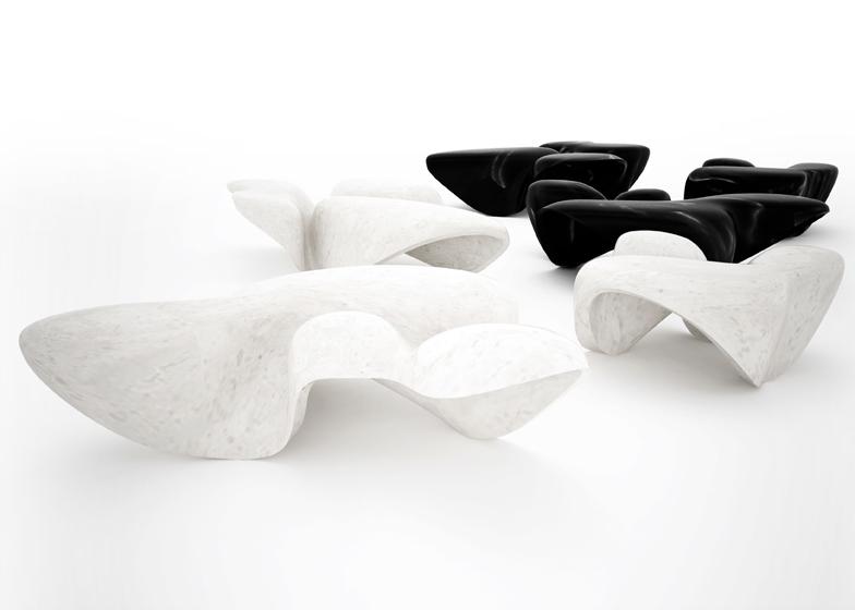 Mesas diseñadas por Zaha Hadid