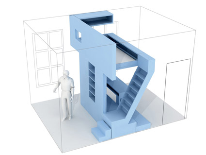 Dormitorio de Eva - h20 architectes