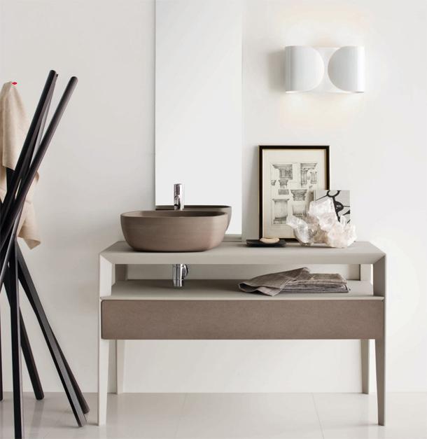 Neos colección de muebles para el baño y el salón - Luca Martorano