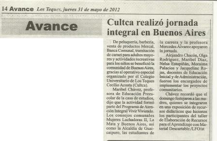 Diario Avance 31 de mayo de 2012